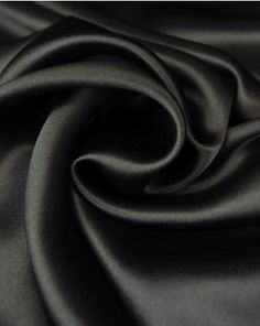 A lightweight pure silk satin fabric in deep, inky black. Silk Satin Fabric, Black Silk, Pure Silk, Ink, Pure Products, Truro Fabrics, Deep, India Ink