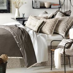 Shop bed and bath at Buyer Select. Our curated selection includes beautiful duvet covers, designer, and luxury bedding sets as well as sumptuous linens. Awesome Bedrooms, Beautiful Bedrooms, House Beautiful, Beautiful Interiors, Bedroom Furniture, Bedroom Decor, Bedroom Ideas, Furniture Decor, Theme Bedrooms