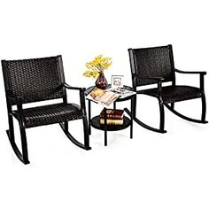 Wicker Patio Chairs Archives - Page 2 of 3 - patiofurnishing.com Rattan Rocking Chair, Outdoor Rocking Chairs, Patio Chairs, Rattan Furniture Set, Outdoor Furniture Sets, Garden Furniture, Rattan Coffee Table, Desk And Chair Set, Ergonomic Chair