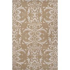 JaipurLiving Timeless By Jennifer Adams Wool and Art Silk Hand Tufted Tan/Gray Area Rug Rug Size: 8' x 11'