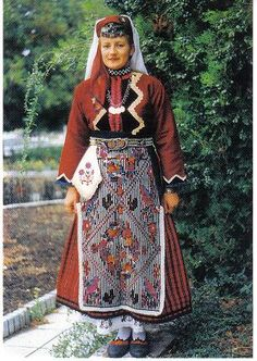 Republic of Bulgaria (Bulgarian Costumes)  The style and cut of the traditional costumes of Bulgaria usually depends on their geographical location.  In Bulgarian history, there are four types of costumes for women. But also these types of dress have the same pieces of garment such a chemise, apron/s, skirts, and waist-band or belt.  These clothing especially the aprons are usually embroidered or embellished with dazzling array of accessories.