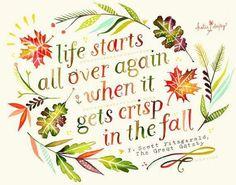 F Scott  Fitzgerald  regarding autumn