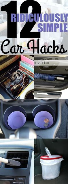 The best DIY projects & DIY ideas and tutorials: sewing, paper craft, DIY... Ideas About DIY Life Hacks & Crafts 2017 / 2018 DIY Life Hacks & Crafts : Keeping your car organized and free of clutter can help you focus on driving. Im.
