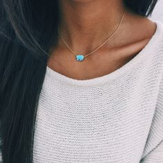 Blue Opal Ella Necklace