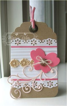Rosemary Reflections: kraft, white and pink-