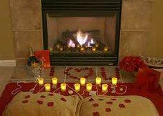 A romantic indoor picnic