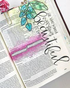 Bible journaling by journaling книги, шрифты Faith Bible, My Bible, Bible Art, Bible Scriptures, Bible Qoutes, Bible Journaling For Beginners, Bible Study Journal, Scripture Study, Art Journaling