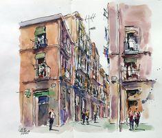 barcelona's sketchcrawl: 33 Sketchcrawl El Raval - Barcelona