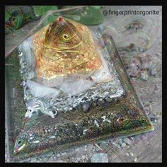 Deep Dream photo of one of my favorite Orgonite Pyramids #deepdream #dreamdeeply #orgonite #orgone #goodvibes #trippy #energyart #passion #love #crystalhealing #pyramid #fingerprintorgonite #harmonizeontario #crystals #gemstones by fingerprint.danny