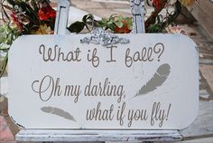 What if I fall  Sign STENCIL 6 Sizes Available por SuperiorStencils