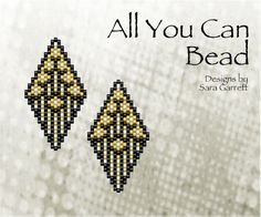 PATTERN ONLY. Create these beautiful peyote earrings. Delica Beads. Odd count with 3 bead colors. 19 bead columns by 27 bead rows. 1 wide by 1.89 long. Pattern includes a pattern preview, full bead legend, colored bead graph, complete word graph. Note: I choose the color palette that looks best on the computer pattern. You may prefer to choose a different color palette. This pattern is not for resale, duplication or sharing. You are welcome to sell any items you create with this pattern, ...