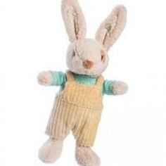 Alfie Rabbit's baby brother is a gorgeous, soft -toy baby rattle by Ragtales made from the fluffiest, beige, plush fabric. With floppy ears sewn with Newborn Baby Boy Gifts, Unique Baby Gifts, Unique Toys, Baby Presents, Bunny Plush, Baby Rattle, Baby Bunnies, Softies, Baby Toys