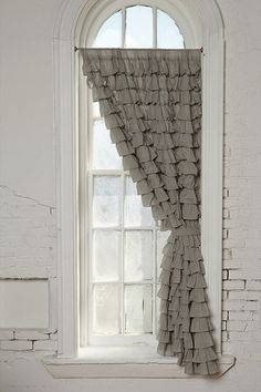 Now this is an idea i havent though of for my front living room ruffled curtains