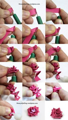 Free Tutorial: How to Make a Paper Quilled Rose featured in Sova-Enterprises.com…