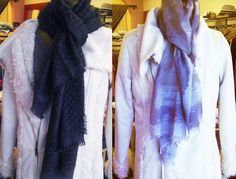 Wonderful new addition to our store -amazingly luxurious scarves by Kate Kanyon - crafted from the highest quality cashmere and cashmere-silk blends - Pure pleasure!