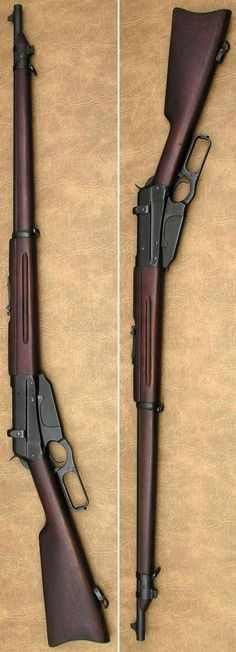 Winchester M1895 magazine fed lever action rifle musket. over 100,000 were made for czarist Russia in the US, in caliber 7.62x54mm Mosin-Nagant during the first world war.