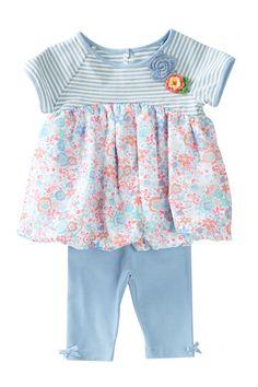 Bubble Dress & Capri 2-Piece Set (Baby Girls 12-24M) by Pippa & Julie on @nordstrom_rack