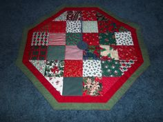 Handmade Quilted Christmas Tree Skirt 31 By Krissyde On Etsy