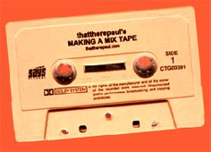 The mix tape. If you were a teen during the '80s, you made a tape for your sweetie.
