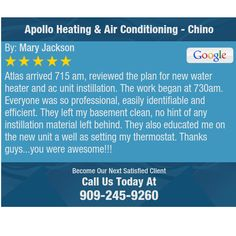 Atlas arrived 715 am, reviewed the plan for new water heater and ac unit instillation. The...
