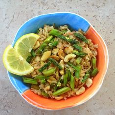 30-Minute Meal: Cashew Asparagus Pilaf - What's For Dinner, Mama?