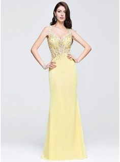 Sheath Column Sweetheart Floor Length Chiffon Prom Dress With Beading Appliques Lace Sequins 018075879 g75879