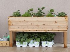 This simple DIY garden planter is designed for minimal waste and cost, and is easily customizable.