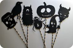 Halloween Shadow Puppets - free printable