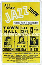 billie hollida\y all star jazz show concert poster Billie Holiday, Band Posters, Event Posters, Music Posters, Vintage Concert Posters, Vintage Posters, Lady Sings The Blues, You Rock My World, Historia Universal