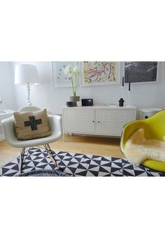 sfgirlbybay / bohemian modern style from a san francisco girl - I love the IKEA cabinet! Armoire Ikea Ps, Ikea Ps Cabinet, Ikea Cabinets, Media Cabinet, Media Furniture, Living Furniture, Living Room Carpet, Living Room Chairs, Ikea Hacks