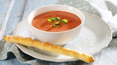 Oppskrift på Tomatsuppe med Crème Fraîche