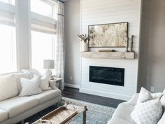Wonderful Photos Electric Fireplace ideas Tips Installing a Fireplace + Our New Samsung Frame TV – The Blooming Nest Fireplace Gallery, Tv Over Fireplace, Fireplace Tv Wall, Linear Fireplace, Build A Fireplace, Shiplap Fireplace, Bedroom Fireplace, Farmhouse Fireplace, Fireplace Remodel