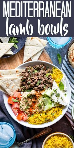 Mediterranean Lamb Bowls are an easy and healthy ground lamb recipe with exotic Mediterranean flavors to spice up dinner any night of the week! | Easy Ground Lamb Recipe | Greek Lamb Recipe | Middle Eastern Lamb Recipe | Easy Dinner | Kofta Bowls