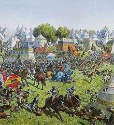 22 June 1476, 18 miles west of Bern in Switzerland during the Burgundian Wars, Duke Charles the Bold was decisively defeated by the Swiss Confederation at the Battle of Murten (Morat).
