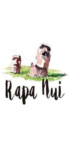 Easter Island (Rapa Nui), Chile Easter Island Statues, Bullet Journal Travel, Wine Bottle Design, Tiki Art, Architecture Sketchbook, Historical Monuments, Travel Scrapbook, Countries Of The World, Tahiti