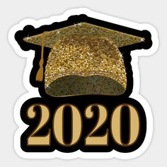 Shop Gold Print Graduation Cap 2020 graduation gift stickers designed by CreatedPrototype as well as other graduation gift merchandise at TeePublic. Graduation Party Desserts, Graduation Crafts, Graduation Party Planning, Graduation Cap Decoration, Graduation Centerpiece, Graduation Images, Happy Birthday Tag, Certificate Design Template, Eid Crafts