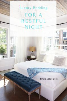 Luxury Bedding: Discover how you can get a restfull sleep with beautiful bedding. New Furniture, Furniture Makeover, Bedroom Furniture, Guest Room Decor, Bedroom Decor, Master Bedroom, Pinterest Home, Bedroom Flooring, Room Accessories
