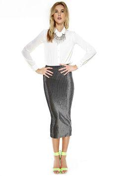 Léa Velvet Maxi Skirt