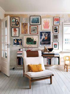 impressive home art gallery. / sfgirlbybay