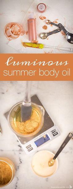 How to Make Luminous Summer Body Oil