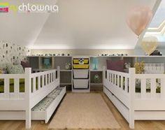 """* pokój dla dwóch dziewczynek na poddaszu * - zdjęcie od Studio Architektury Wnętrz """"rychtownia"""""""