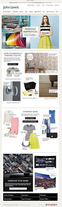 John Lewis Weekend Inspiration email 2014
