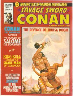 The Savage Sword of Conan. No. 32. U.K. Marvel Comic. June 1980.