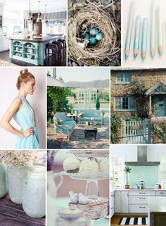 Mood Board Monday: Robin's Egg Blue http://blog.hgtv.com/design/2014/04/14/mood-board-monday-robins-egg-blue/   http://idealshedplans.com/backyard-storage-sheds/