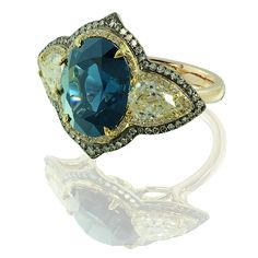 IVY new york - blue spinel and diamond ring