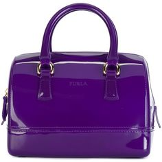 Furla Mini Candy Tote ($197) ❤ liked on Polyvore featuring bags, handbags, tote bags, mini tote handbag, tote purses, furla, mini tote bag and purple purse