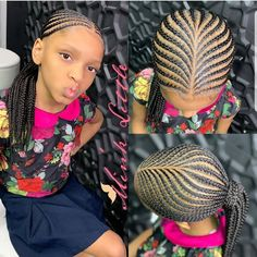 Hairstyles For Girls: Lovely Braids For Beautiful Girls Little Girl Braid Styles, Kid Braid Styles, Little Girl Braids, Black Girl Braids, Braids For Kids, Braids For Black Hair, Girls Braids, Black Kids Hairstyles, Girls Natural Hairstyles