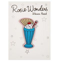 Rosie Wonders Ice Cream Sundae Iron On Patch | Yellow | Accessorize