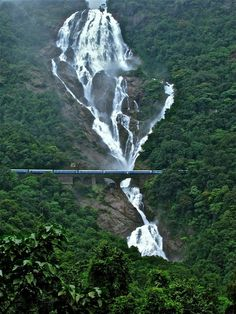 Dudhsagar waterfalls are placed in the locale of Sanguem in Goa . It lies at the separation of 60 km from Margao close to the Goa Karnatak. Beautiful Places In The World, Places Around The World, Around The Worlds, Wonderful Places, Goa India, India Pic, Beautiful Waterfalls, Beautiful Landscapes, Nature Sauvage