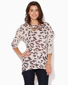 charming charlie   Fiona Leopard Top   UPC: 3000690146 #charmingcharlie